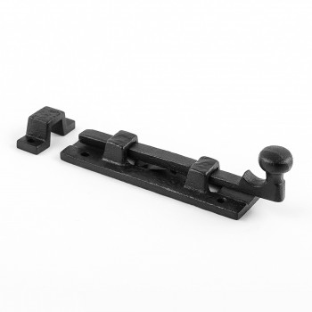 <PRE>Black Wrought Iron  Cabinet or Door Slide Bolt 4inch W </PRE>zoom7