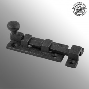 <PRE>Wrought Iron Slide Bolt - 3inch Wide - Black - Rustproof Finish</PRE>zoom2