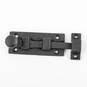 <PRE>Wrought Iron Slide Bolt - 3inch Wide - Black - Rustproof Finish</PRE>zoom4