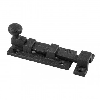 Wrought Iron Slide Bolt  3 Wide  Black  Rustproof Finish