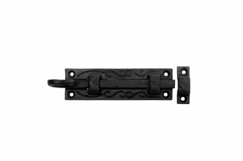 Black Wrought Iron Cabinet or Door Fancy Slide Bolt 4 34 Black Slide Bolt Slide Lock For Door Wrought Iron Slide Latch Lock