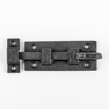 <PRE>Black Wrought Iron Cabinet or Door Fancy Slide Bolt 3 7/8inch </PRE>zoom3