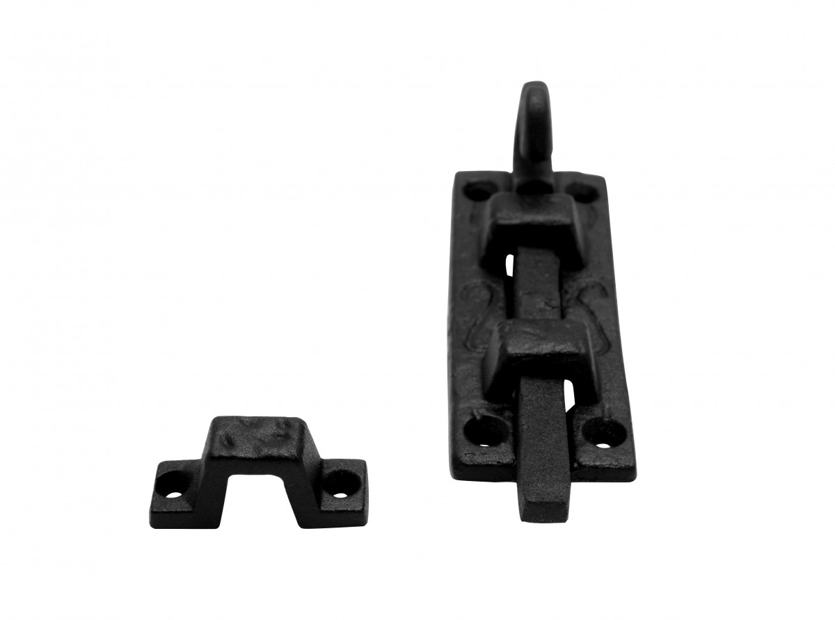 Charmant ... U003cPREu003eSlide Bolt Black Wrought Iron Door Bolt Flush Wrought Iron Black 4  Inches ...