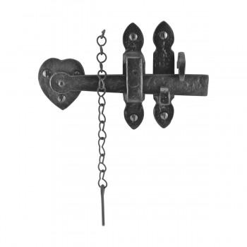 Suffolk Black Iron Door Latch Lock Heart Thumb Set 8 Black Iron Door Latch Door Latch Sets Door Latch