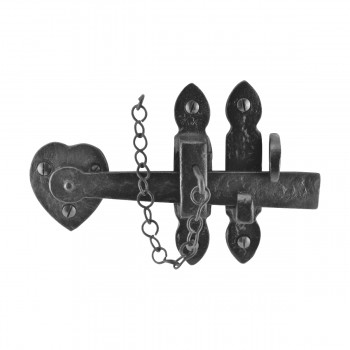 Suffolk Black Iron Door Latch Lock Heart Thumb Set 8