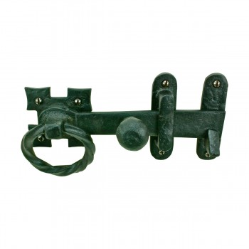 Wrought Iron Door Latch Lock Set Ring Pull Rustproof Door Latches Hardware 7 Wrought Iron Door Latch Ring Pull Gate Holder