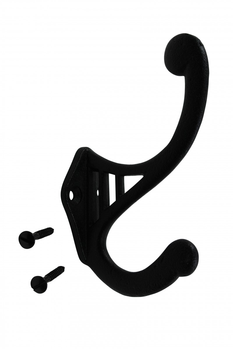 Black Wrought Iron Hook RSF 4 1/2\