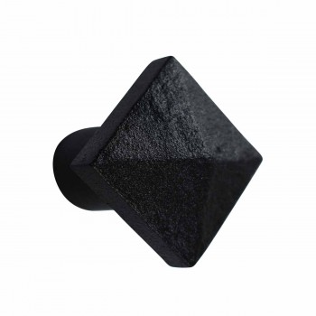 <PRE>Cabinet Knob Square Black Iron 1 1/4inch </PRE>zoom3
