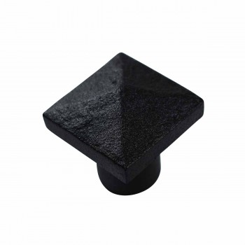 <PRE>Cabinet Knob Square Black Iron 1 1/4inch </PRE>zoom5