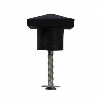 <PRE>Cabinet Knob Square Black Iron 1 1/4inch </PRE>zoom6