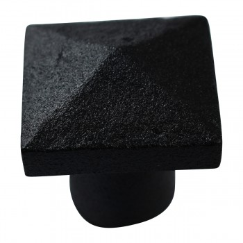 <PRE>Cabinet Knob Square Black Iron 1 1/4inch </PRE>zoom9