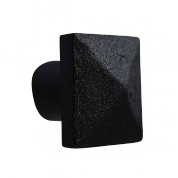 Cabinet Knob Square Black Iron 1 1/4