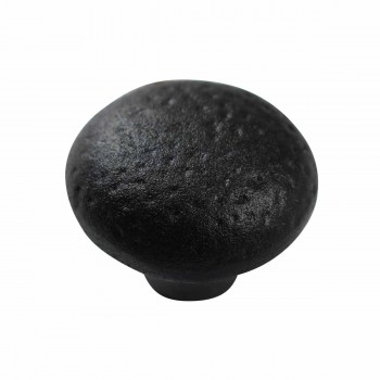 <PRE>Cabinet Knob Black Wrought Iron Pull </PRE>zoom4