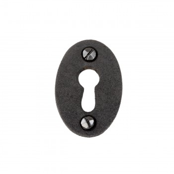 Keyhole Cover  Escutcheon Wrought Iron 1 3/4 in. H