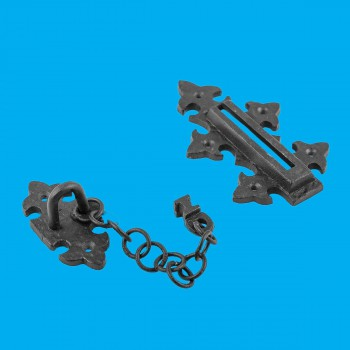 <PRE>Chain Door Slide Bolt Black Wrought Iron </PRE>