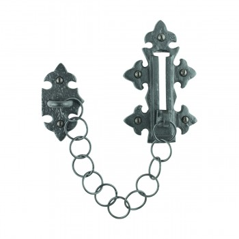 Chain Door Slide Bolt Black Wrought Iron Slide Bolt Chain Door Chain Lock Door Chain Guard Black