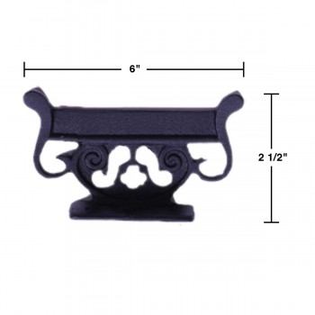 spec-<PRE>Antique Vintage Boot Scraper Black Wrought Iron </PRE>