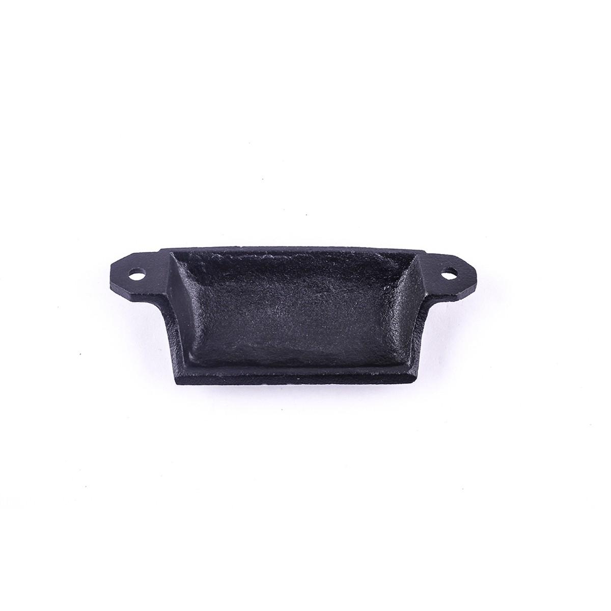 Cabinet or Drawer Bin Pull Black Iron Cup 4 W x 1 12 H Bin Pulls Black Wrought Iron Bin Pull Cabinet Door Bin Pull