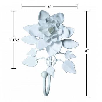 spec-<PRE>Flower Robe Hook Wrought Iron Rose </PRE>