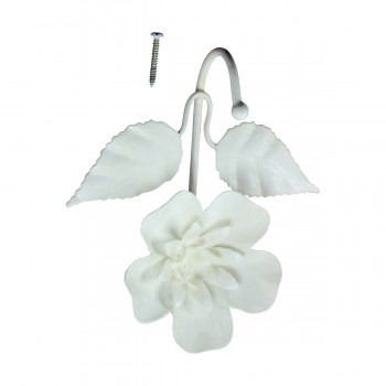 <PRE>Flower Hook Wrought Iron White </PRE>zoom7