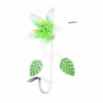 <PRE>Flower Hook Wrought Iron Multi Colored Lily </PRE>zoom3