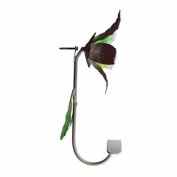 <PRE>Flower Hook Wrought Iron Multi Colored Lily </PRE>zoom5
