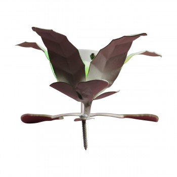 <PRE>Flower Hook Wrought Iron Multi Colored Lily </PRE>zoom6