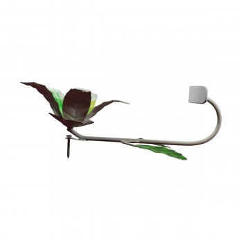 <PRE>Flower Hook Wrought Iron Multi Colored Lily </PRE>zoom7