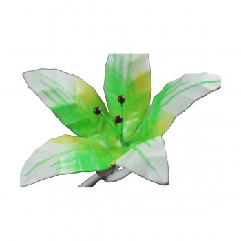 <PRE>Flower Hook Wrought Iron Multi Colored Lily </PRE>zoom10