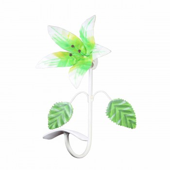 <PRE>Flower Hook Wrought Iron Multi Colored Lily </PRE>zoom1