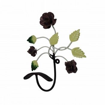 <PRE>Flower Hook Wrought Iron Multi Colored Rose </PRE>zoom3