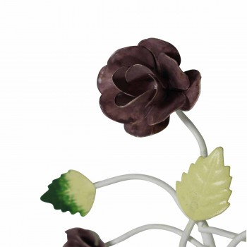 <PRE>Flower Hook Wrought Iron Multi Colored Rose </PRE>zoom6