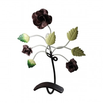 <PRE>Flower Hook Wrought Iron Multi Colored Rose </PRE>zoom9
