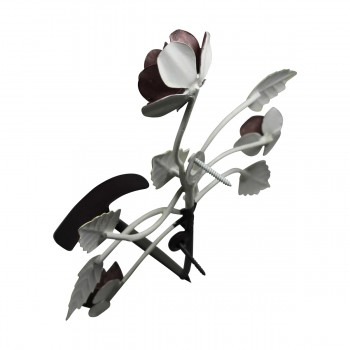 <PRE>Flower Hook Wrought Iron Multi Colored Rose </PRE>zoom11