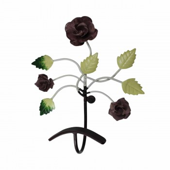 <PRE>Flower Hook Wrought Iron Multi Colored Rose </PRE>zoom1
