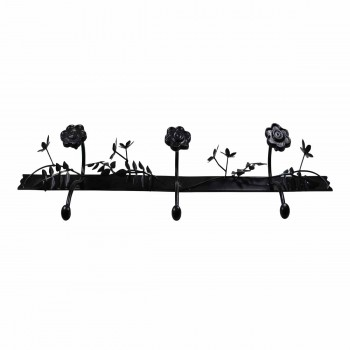 <PRE>Decorative Triple Hook Black Rose Wrought Iron </PRE>zoom4