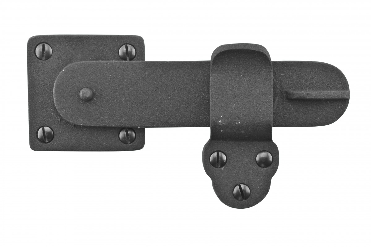 Gate latch black wrought iron quot by