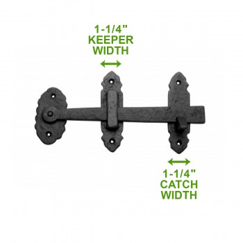 spec-<PRE>Cabin Door Latch Lock Wrought Iron Colonial Style Door Latches Hardware</PRE>