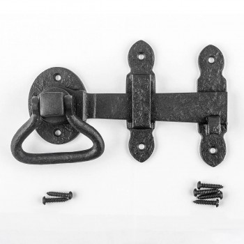 <PRE>Door Latch Wrought Iron Black Set 5 1/2'' W </PRE>zoom8