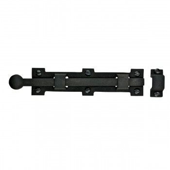 <PRE>Slide Door Bolt Rough Wrought Iron 6 3/8inch inche W x1 1/2&quot; H </PRE>zoom5