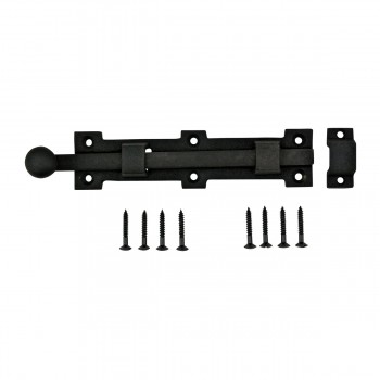 Slide Door Bolt Rough Wrought Iron 9
