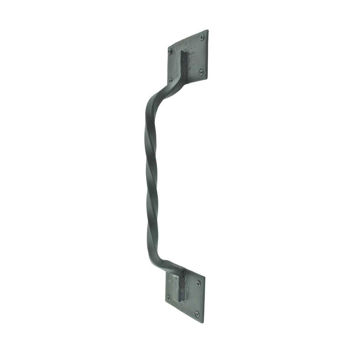 Wrought Iron Door Pull Twist Black Rustproof Finish Wrought Iron Door Pulls Black Door Pulls Antique Door Pulls For Cabinets