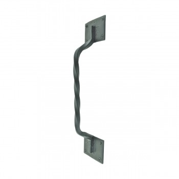 Wrought Iron Door Pull Twist Black Rustproof Finish Wrought Iron Door Pulls Black Door Pulls Antique Door Pulls For Cabinets