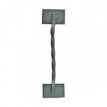 Wrought Iron Door Pull Twist Black Rustproof Finish 15899grid