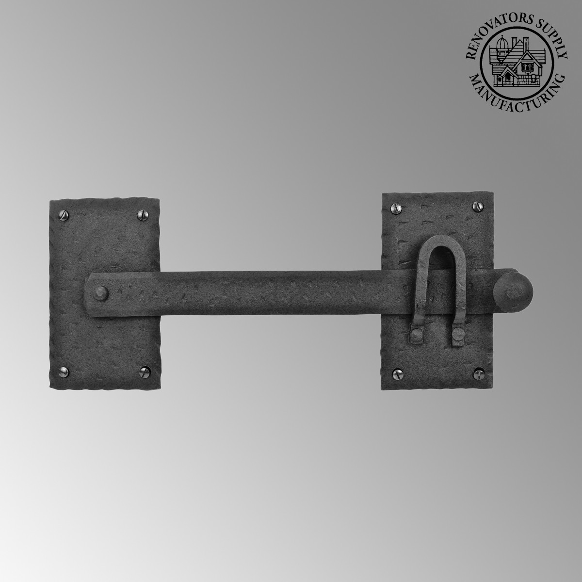 Fence gate latch lock black wrought iron inch
