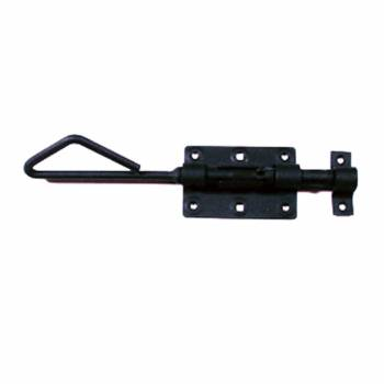 Wrought Iron Slide Bolt Black Rustproof Lock 15915grid