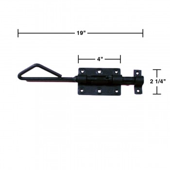 spec-<PRE>Wrought Iron Slide Bolt Black Rustproof Lock </PRE>