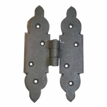 <PRE>Cabinet Hinges Black Iron H Hinge 5 1/8inchH x 3 1/8&quot;W </PRE>zoom1