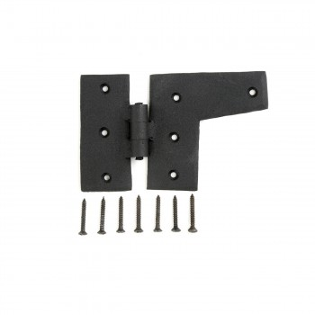 Wrought Iron HL Hinge Black Rustproof Right Side 3
