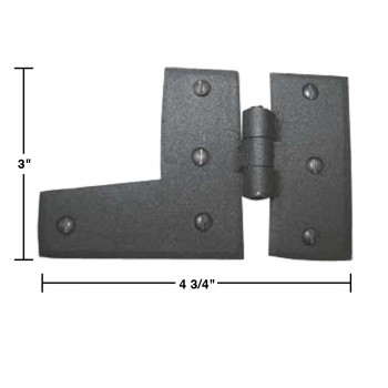 spec-<PRE>Wrought Iron HL Hinge Black Rustproof Right Side 3&quot; </PRE>